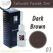 TETOVÁLÓ FESTÉK 5ml. DARK BROWN - ELKON - See Me