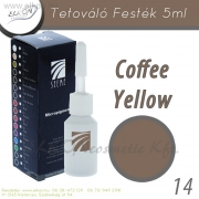 TETOVÁLÓ FESTÉK 5ml. COFFEE YELLOW- ELKON - See Me